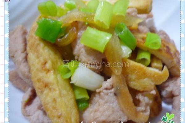 豆腐炒肉丝的做法
