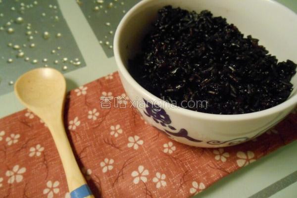 黑米炊的做法