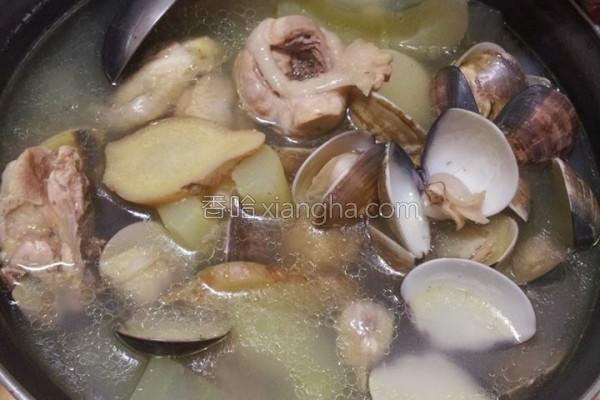 冬瓜蛤蜊鸡汤的做法