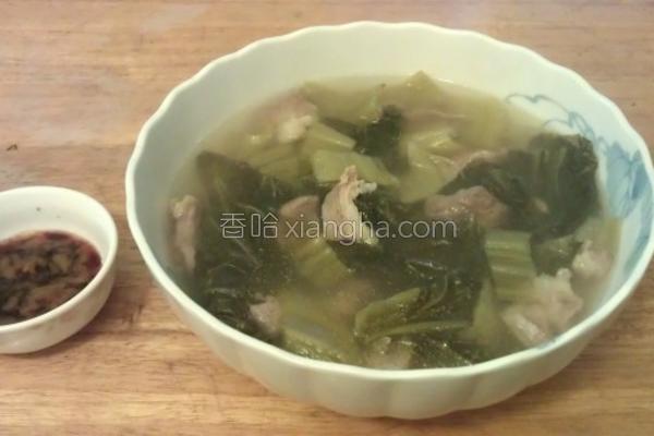 酸菜肉丝汤的做法