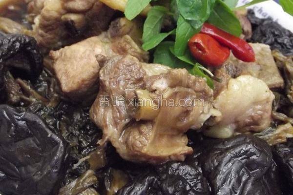 梅干菜卤烧小排骨的做法
