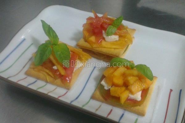 甜柿乳酪薄饼的做法