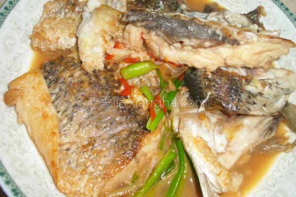 红烧鲜辣鲈鱼排的做法