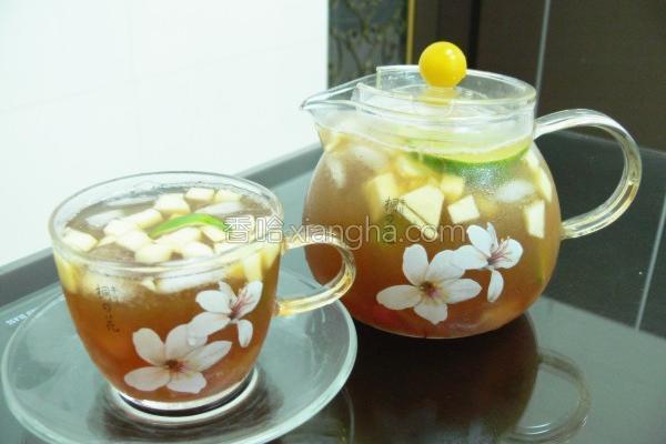红柚水果茶的做法