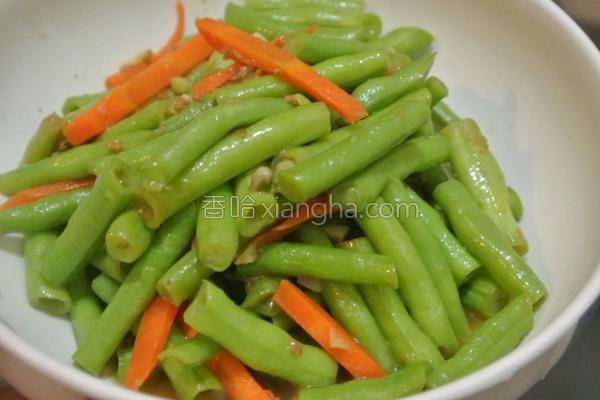 沙茶四季豆的做法