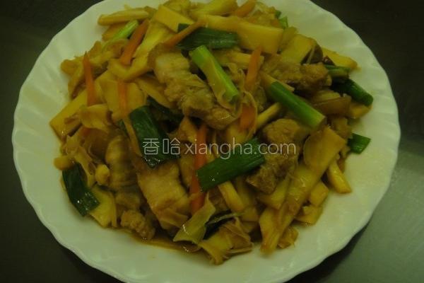 桂竹笋烧肉的做法