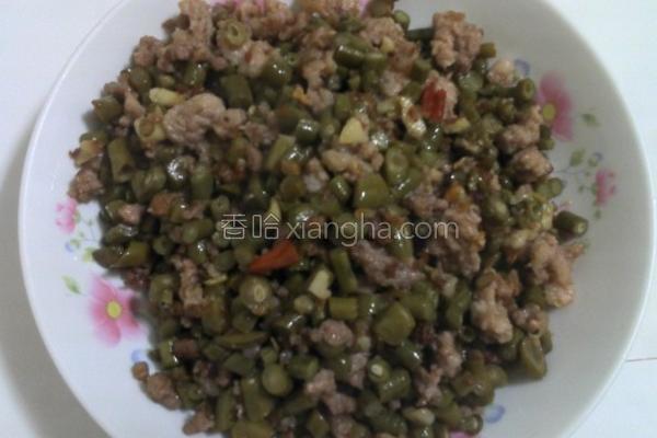 肉末酸豆的做法