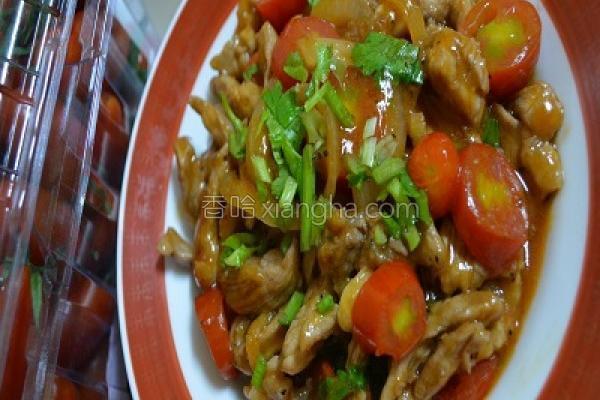 番茄肉丝新鲜炒的做法
