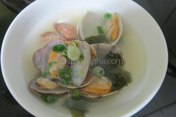 海瓜子味噌清汤的做法