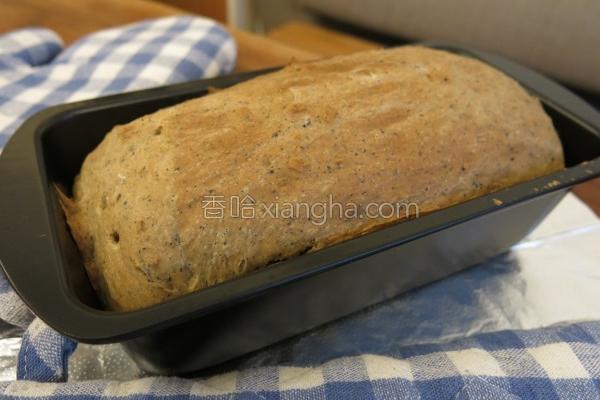 黑糖芝麻面包的做法
