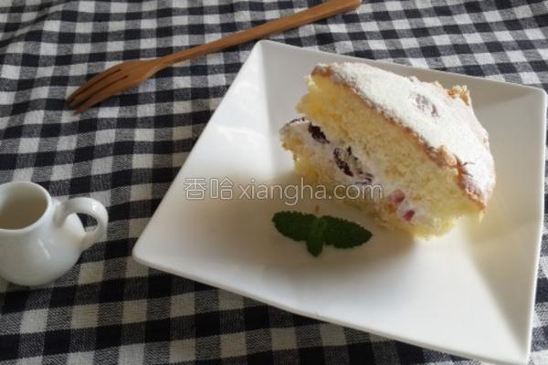 蔓越莓戚风蛋糕的做法