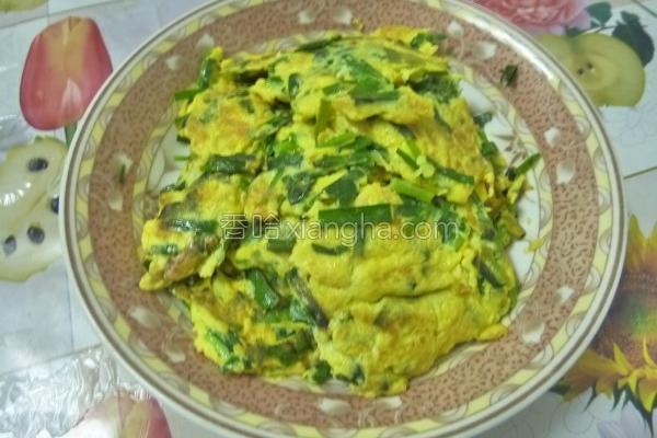 韭菜煎蛋的做法
