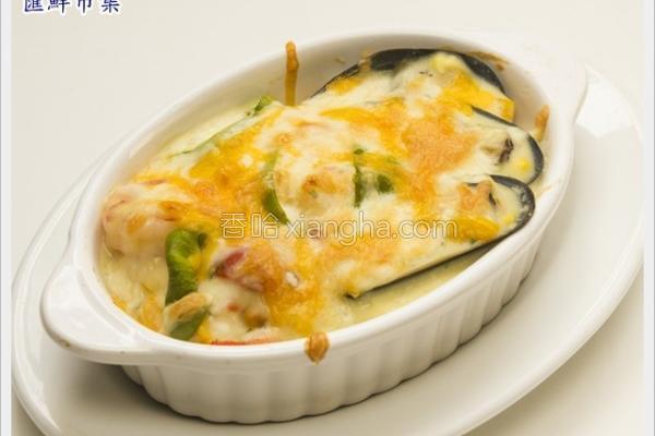海鲜焗烤饭的做法