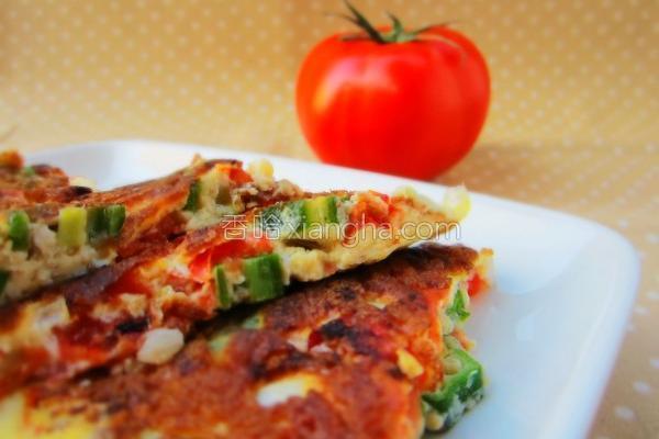 番茄秋葵烘蛋的做法