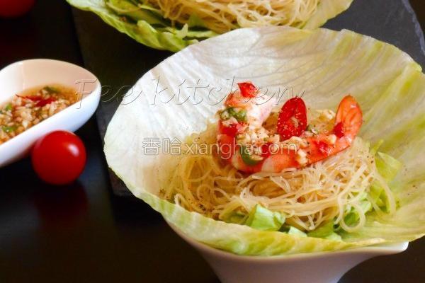 椒麻生菜米粉虾松的做法