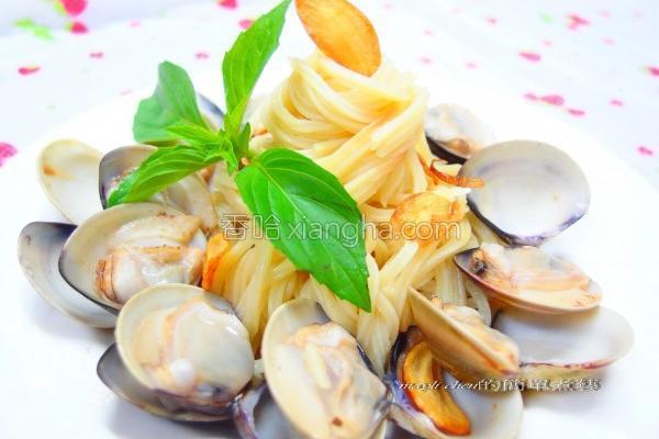 蒜片蛤蜊意大利面的做法
