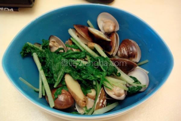 蛤蜊水菜的做法