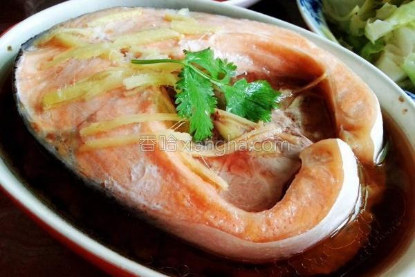 鲑鱼蒸肉饼的做法