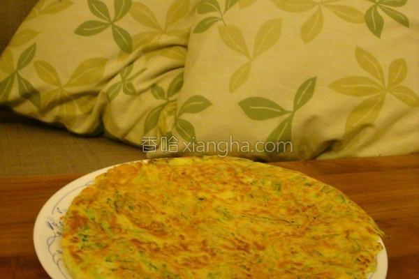 三星葱小黄瓜煎饼的做法