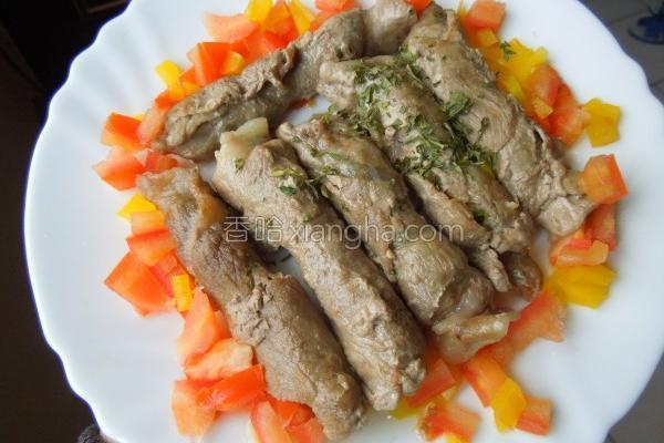 醋香葱肉卷的做法