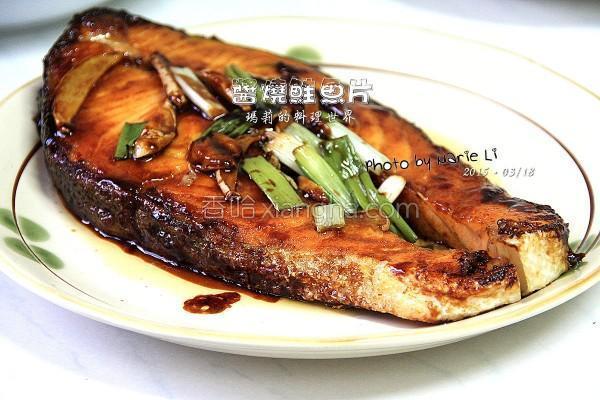 酱烧鲑鱼片的做法