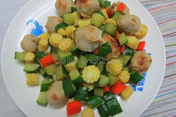 小丸子蔬菜丁的做法