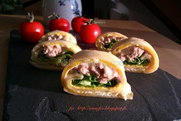 酥皮起司鲔鱼蛋饼的做法
