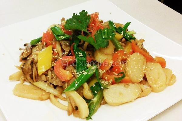 菌菇烩宁波烤年糕的做法