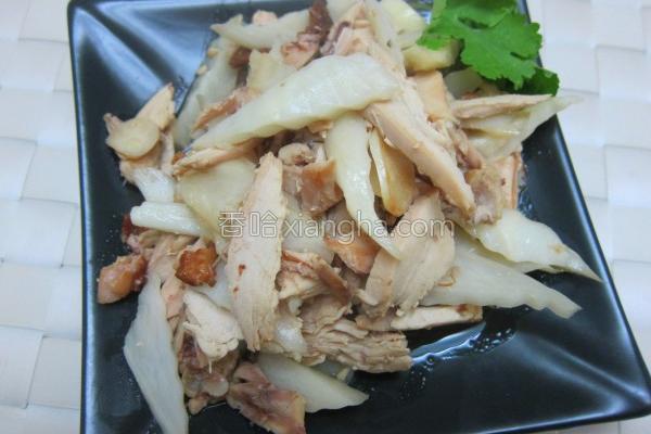 鸡肉筊白笋炒的做法