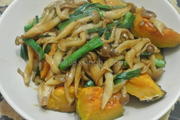 烤南瓜绘菇菇的做法
