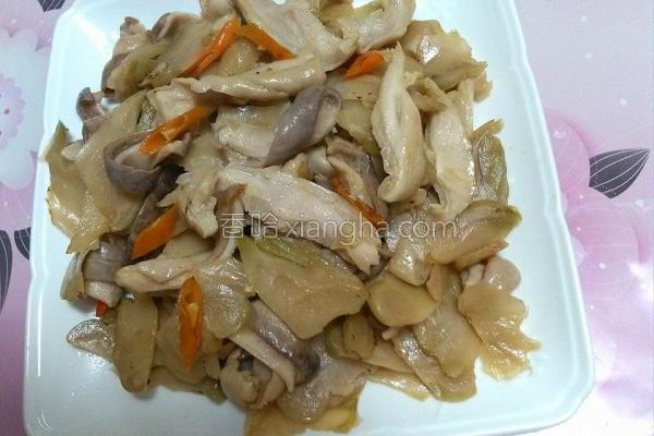 榨菜炒猪肚的做法