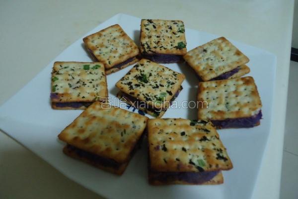 紫地瓜夹心饼的做法
