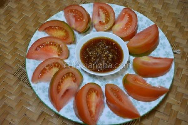 姜汁番茄的做法