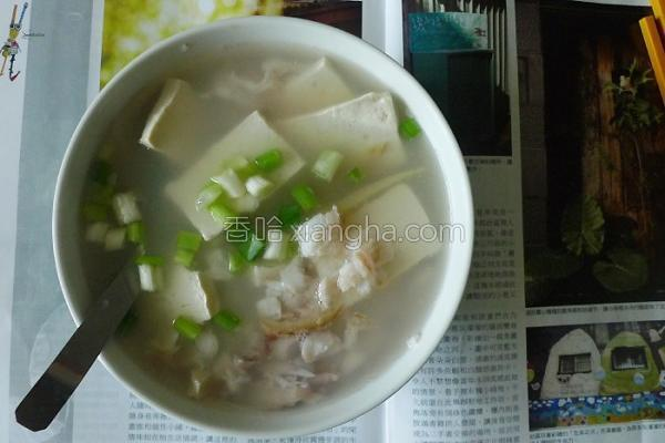 赤鯮豆腐鲜泡饭的做法