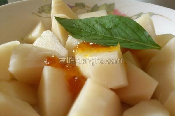 凉拌香桔竹笋的做法