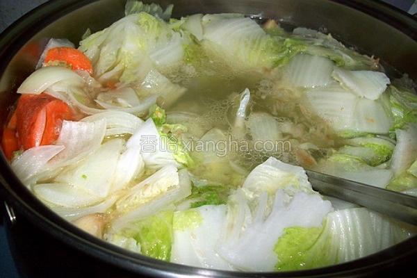 鹅油蔬菜汤的做法