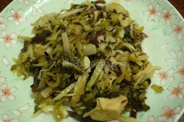 黑木耳面筋炒酸菜的做法