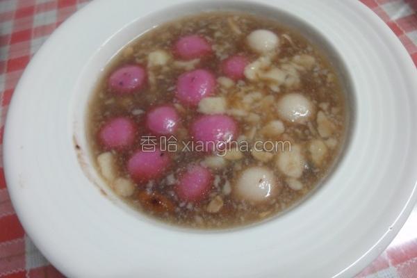 豆花红豆汤圆的做法