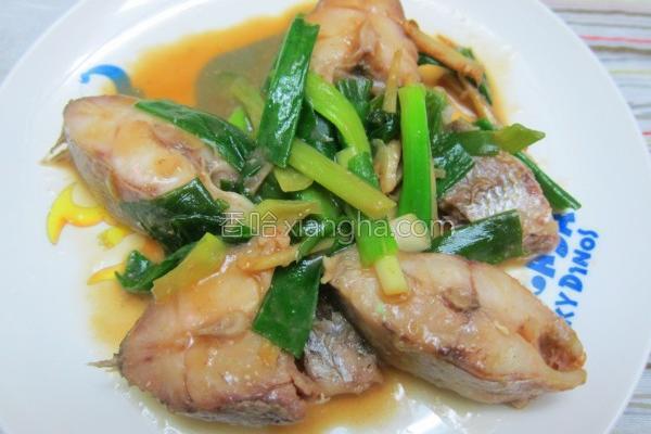 味噌葱烧鱼的做法