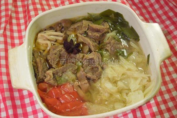 白菜牛腩锅的做法