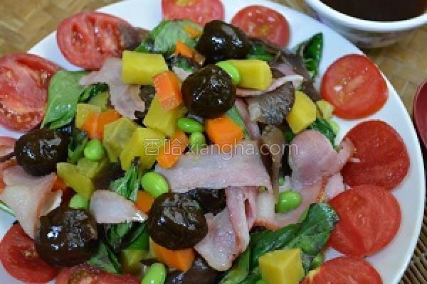 梅清醋香蔬果沙拉的做法