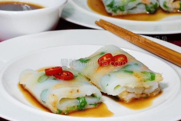 葱花虾米肠粉的做法