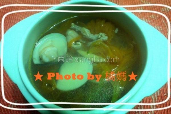 金针蛤蜊汤的做法