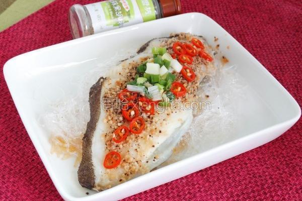 蒜香蒸鳕鱼的做法