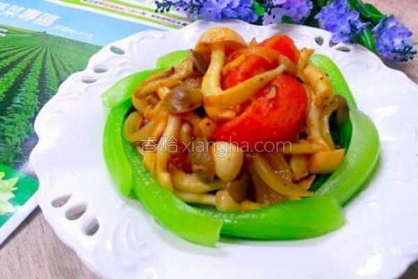 菜篮食材菇菇番茄的做法