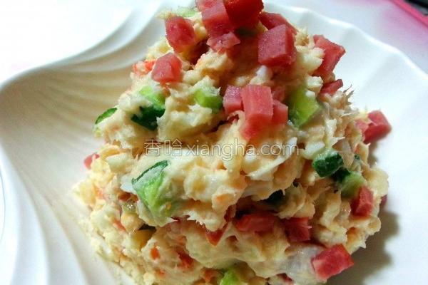 鲔鱼蛋沙拉的做法