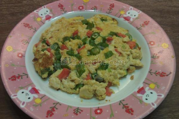 鲜蔬豆腐蛋煎的做法