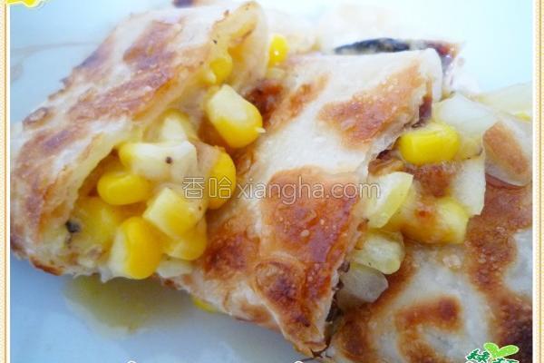 玉米起司蛋饼的做法
