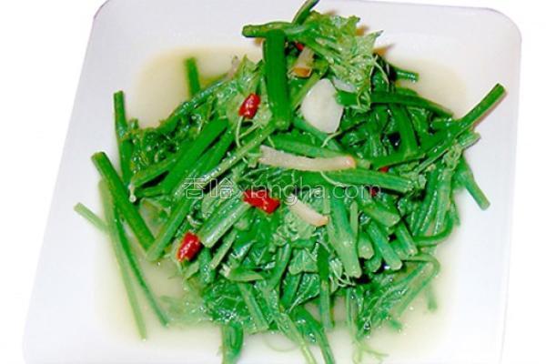 清炒龙鬚菜的做法