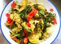 红椒香椿炒鸡蛋